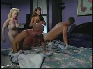 Two guys spanked by sluts