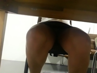 Question free under table upskirt that would