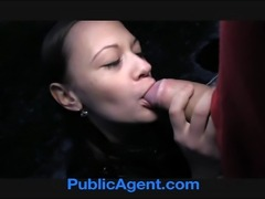 Pretty brunette fucked outside in the middle of nowhere