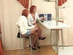 Russian Classic Horny Aunt With Young Girl