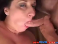 Amateur fatty with huge tits gets it up the ass and gets cum on face