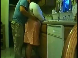 Fat Amateur Mature Fun in The Kitchen
