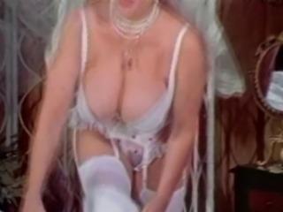 Big Tits Granny Candy Samples Masturbates in Wedding Dress