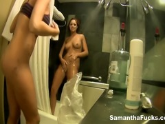 Sexy Samantha Saint Gets Wet And Naughty In The Shower With Jayden Cole