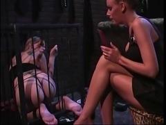 2 smoking hot chicks into bondage & foot fetish