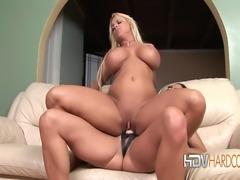 Big tit blonde lesbian Holly Halston and her brunette girlfriend Stephanie...