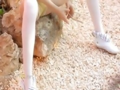 Petite rawboned doll stripping