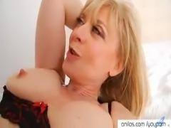 Cougar Nina Hartley spreads for cock free
