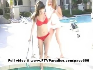 Genuine Genuine lesbians in the pool