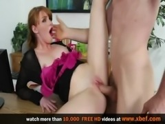 Marie McCray gets fucked at work, in clothes free