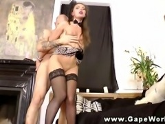lamour babe gaping ass fucked hard and atm