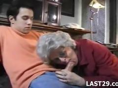 Granny getting a hard cock