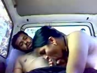 Indian couple in the car (Amateur)