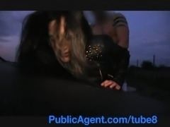 PublicAgent Amateur Asian anal sex outside on the car