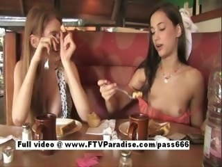 Genuine Genuine lesbian girls public flashing tits