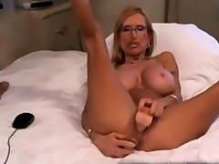 Busty mature blonde with nice body