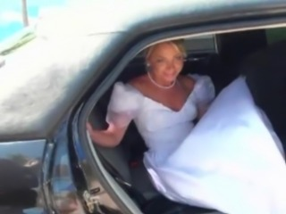 Bride fucked in a car free