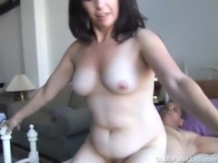 Gorgeous mature brunette loves the taste of cum free
