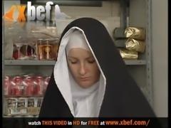 Nun & Dirty old man. No sex free