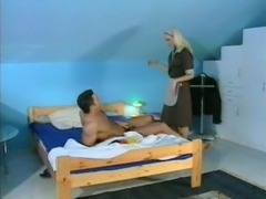 Blonde maid fucked free