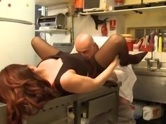 French waitress gets fucked by chef after a hard working-day