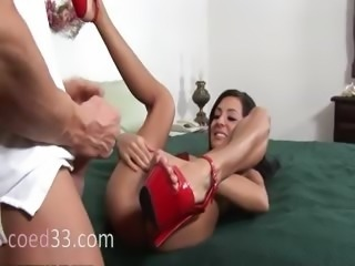 Innocent schoolgirl analhole fucked hard
