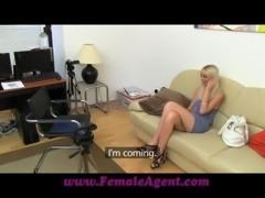 FemaleAgent Tight blonde anal casting free