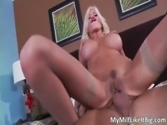 Extreme MILF honey with giant hooters part3