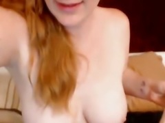 Busty Redhead Babe Fucks Herself with Dildo HD