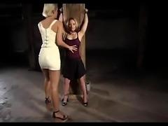 lesbian bdsm bondage electro play