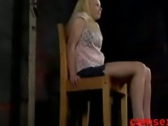 sexy blondes girl in Bondage Dungeon