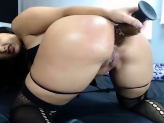 beautiful booty bitch loves get rubber Dick in butt