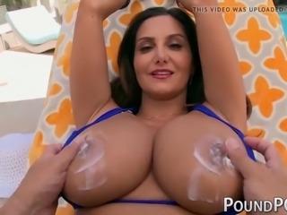 Busty milf stepmom ava addams rides huge cock in pov