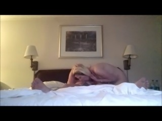 Hot fucking and blown by skinny blonde in hotel home video