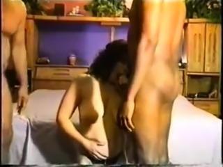 Dark Brown Wife in True Interracial Group Sex Sex