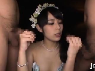 Glamor damsel Ruka Kanae enjoys that yummy slim jim