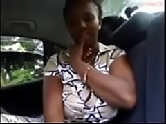African masturbation orgasm in a taxi