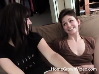 Barely Legal Lesbians Get Nasty With A Strap On - Barely