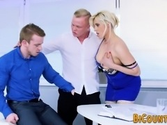 Bisex hunk tugs cum while riding cock
