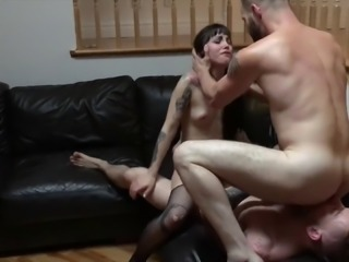 Sloan Cox's FIRST BIsexual MMF Threesome with Steve Rickz