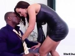 Busty MILF Lisa Ann ass fucked by BBC before facial cumshot