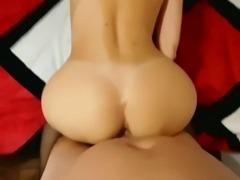 Stockings amateur blonde POV