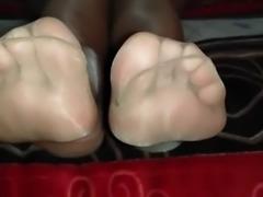 Nylon Feet Show, Foot Fetish Lover, Sexy Feet, Cum on my Feet Now!