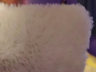 Nerdy Faery Pisses On A Fuzzy White Pillow