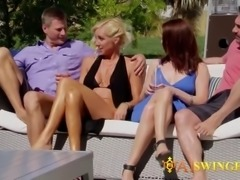 Horny swinger group is ready to meet and have wild sex!