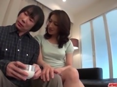 Marina Matsumoto plays sensual on a tasty dick - More at Japanesemamas com