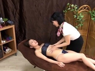 Kinky Asian babes getting schooled in bondage and submission
