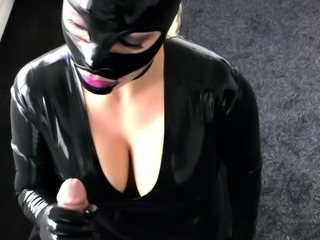 High Class Latex Handjob