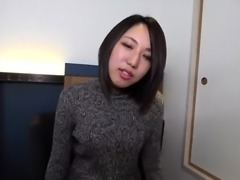 Adorable Japanese babe gets her wet peach toyed and fucked