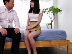 Insatiable Oriental babe fucked and facialized by two guys